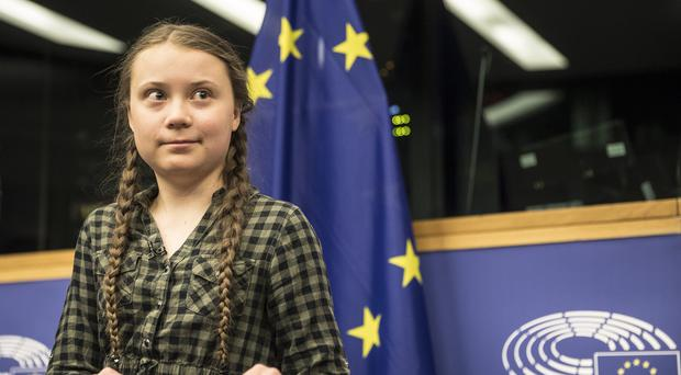 Young Swedish environmental activist Greta Thunberg (AP Photo/Jean-Francois Badias)