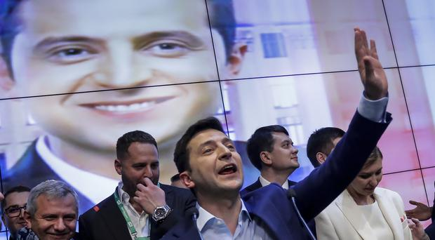 Ukrainian comedian and presidential candidate Volodymyr Zelenskiy (Sergei Grits/AP)
