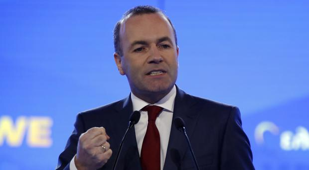 European People's Party candidate Manfred Weber (Thanassis Stavrakis/AP)