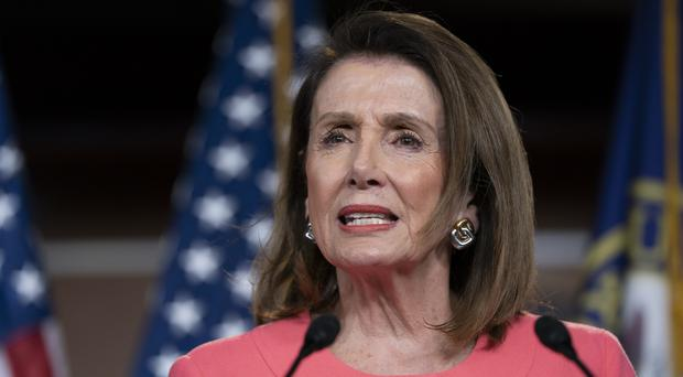 Speaker of the House Nancy Pelosi has accused William Barr of lying (Scott Applewhite/AP)