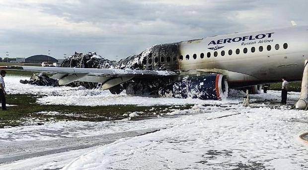 The Sukhoi Superjet 100 aircraft (Moscow News Agency/AP)