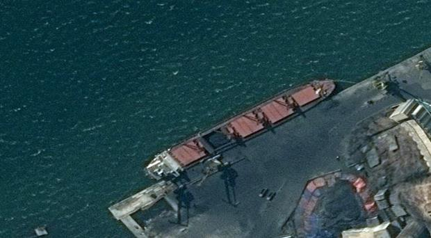 The North Korean cargo ship, Wise Honest, has been seized (Department of Justice/AP)