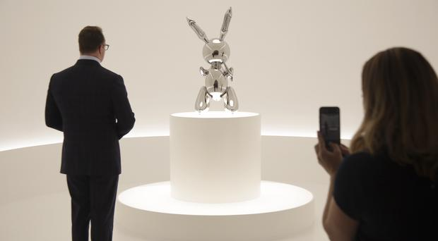 "The sculpture entitled ""Rabbit"" by Jeff Koons (Seth Wenig/AP)"