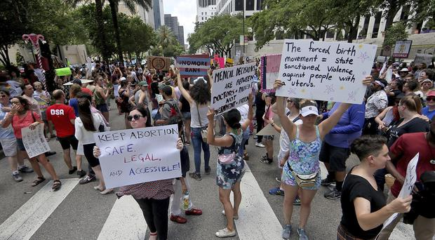 Abortion-rights advocates have taken part in protests in the US (Michael DeMocker/NOLA.com | The Times-Picayune via AP)
