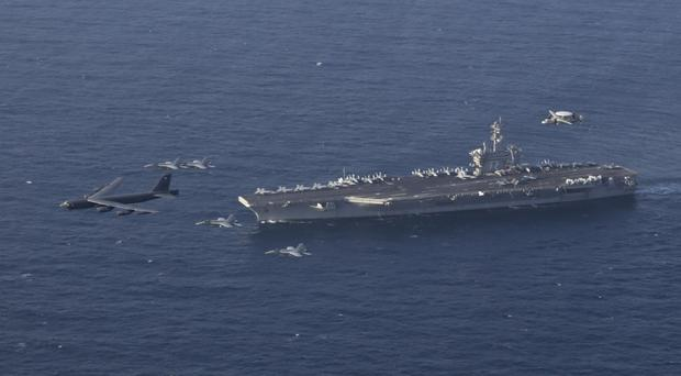 The Abraham Lincoln Carrier Strike Group (US Navy via AP)