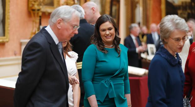 Sarah Huckabee Sanders during the state visit to London earlier this month (Tolga Akmen/PA)