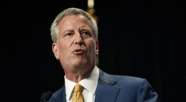 Bill de Blasio. (AP Photo/Charlie Neibergall)