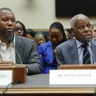 Actor Danny Glover, right, and author Ta-Nehisi Coates testify about reparation for the descendants of slaves (Pablo Martinez Monsivais/AP)