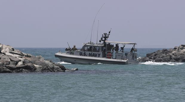 A US Navy patrol boat in the Persian Gulf (AP)