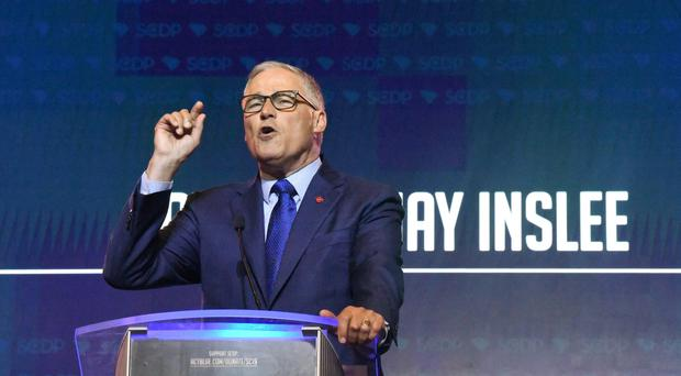 Washington governor Jay Inslee is seeking the Democratic Party's nomination for the presidency (Meg Kinnard/AP)