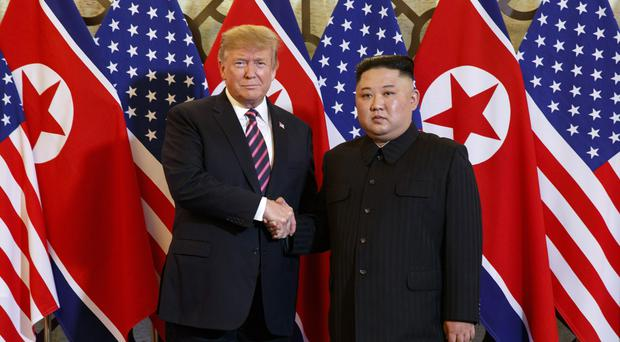 Donald Trump and Kim Jong Un (AP Photo/Evan Vucci, File)