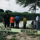 Yellow tape along the Rio Grande bank where the bodies of Oscar Alberto Martínez Ramirez and his daughter Valeria were found (AP Photo/Julia Le Duc)