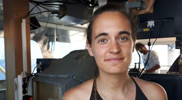 Sea-Watch 3 captain Carola Rackete defied Italy to dock in Lampedusa (ANSA/Matteo Guidelli/AP)