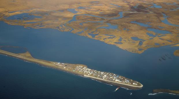 The island village of Kivalina, an Alaska Native community of 400 people (Andrew Harnik/AP)