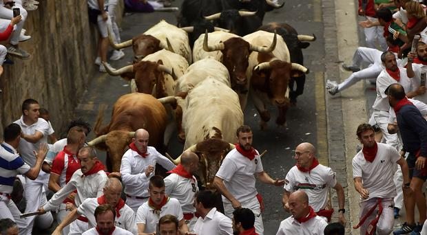 Revellers from around the world flock to Pamplona every year (Alvaro Barrientos/AP)