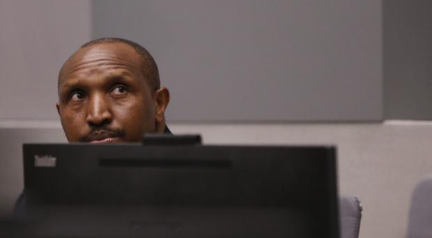 Bosco Ntaganda sits in the courtroom of the ICC (Eva Plevier/AP)