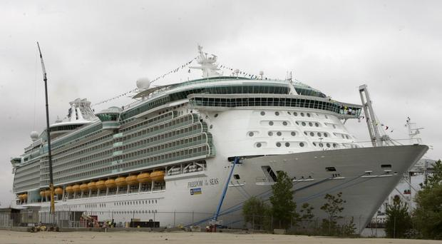 The Freedom of the Seas cruise ship (Mike Derer/AP)