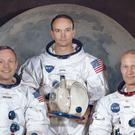 The Apollo 11 crew, from left, Neil Armstrong, Michael Collins and Edwin E 'Buzz' Aldrin (Nasa via AP)