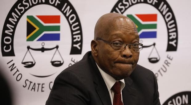 Former South African president Jacob Zuma has refused to give more evidence (Mike Hutchings/AP)