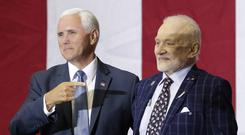 Vice President Mike Pence with Apollo 11 astronaut Buzz Aldrin (John Raoux/AP)