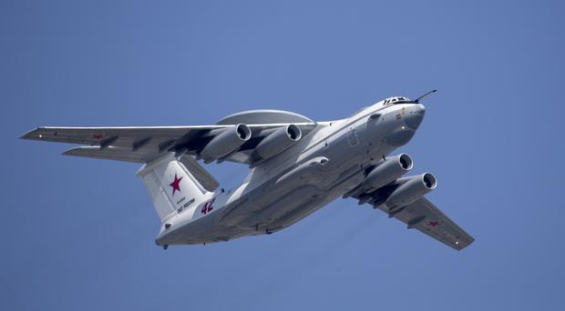 A Russian Beriev A-50 airborne early warning and control training aircraft (Alexander Zemlianichenko, Pool/AP)