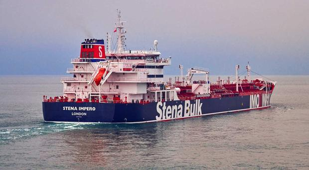 The Stena Impero was seized by Iranian officials earlier this month (Stena Bulk/PA)