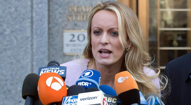 File photo of Stormy Daniels (Mary Altaffer/AP)