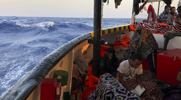 The Open Arms rescued the migrants two weeks ago (AP)