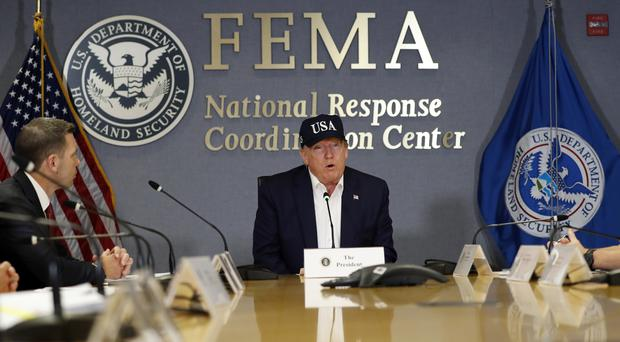 US President Donald Trump has said yet again that he has never heard of a 'Category 5' hurricane (Jacquelyn Martin/AP)