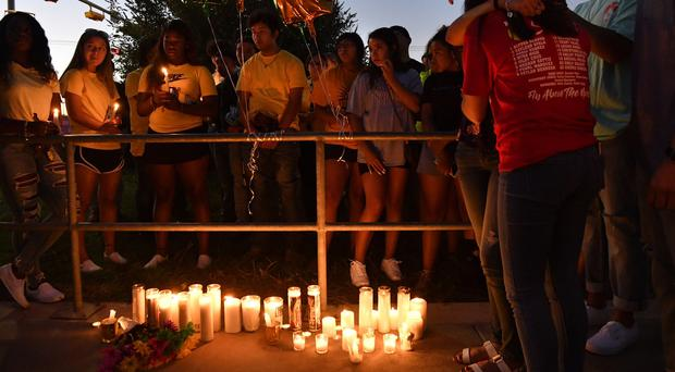 Odessa High School students and families remember their 15 year-old classmate Leilah Hernandez (The Abilene Reporter-News/AP)