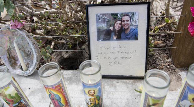 A photo left at a memorial for the victims of the Conception vessel fire (Christian Monterrosa/AP)