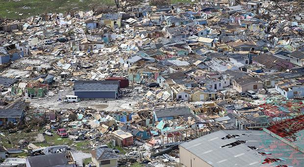 Destruction from Hurricane Dorian at Marsh Harbour in Great Abaco Island, Bahamas (Al Diaz/AP)