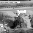 Damage to the infrastructure at Saudi Aramco's Kuirais oil field (US government/Digital Globe via AP)