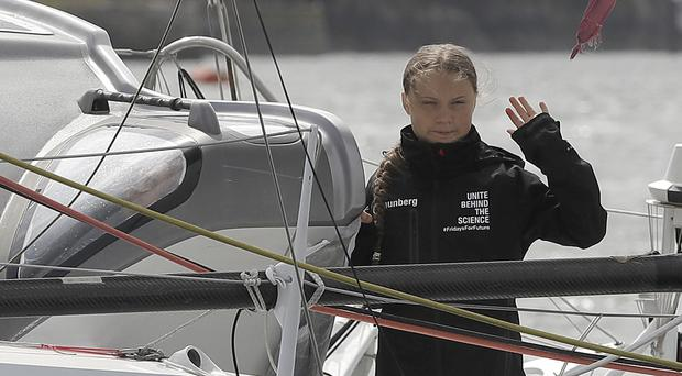 Climate activist Greta Thunberg avoided air travel and sailed to the US on a yacht (Kirsty Wigglesworth/PA)