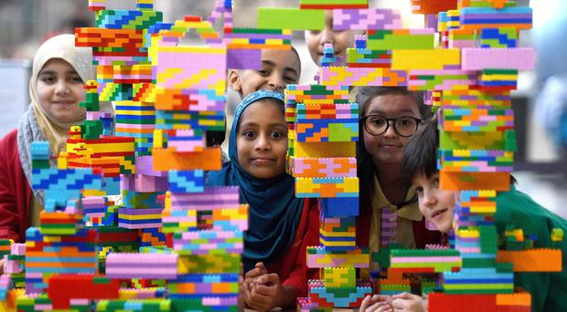 Children play with lego. (Kirsty O'Connor)