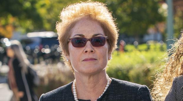 Marie Yovanovitch arrives on Capitol Hill for her deposition (JScott Applewhite/AP)