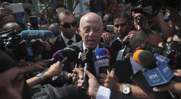 Tunisian independent law professor and presidential candidate Kais Saied (Mosa'ab Elshamy/AP)