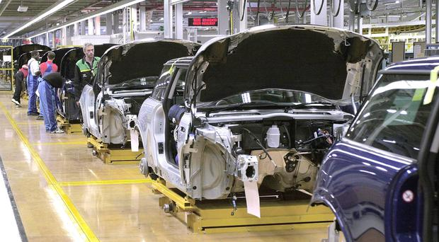 Exports of cars and auto parts have declined strongly (Tim Ockenden/PA)