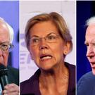 White House hopefuls Bernie Sander, Elizabeth Warren and Joe Biden (Jose Luis Magana/Ringo H.W. Chiu/Bryon Houlgrave/AP)