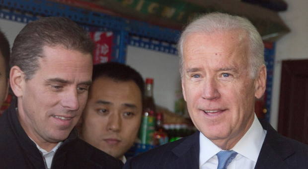 Row: Joe Biden with son Hunter