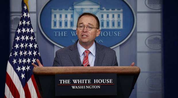 White House chief of staff Mick Mulvaney (AP/Evan Vucci)