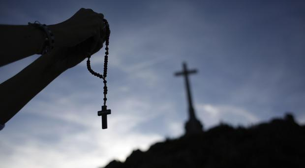 The remains will be taken from the grandiose mausoleum at the Valley of the Fallen (AP/Alfonso Ruiz)