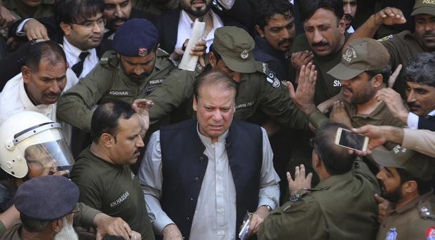 Nawaz Sharif is being released on bail so he can seek medical treatment (KM Chaudary/AP)