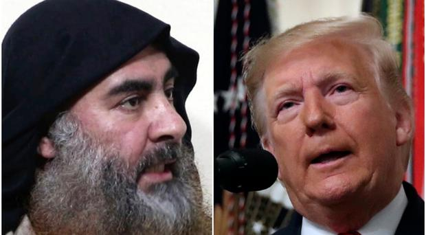 Abu Bakr al-Baghdadi and Donald Trump (AP)