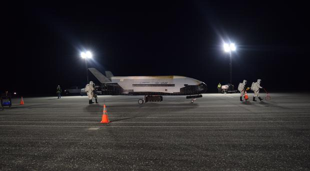 The US Air Force's X-37B successfully lands at Nasa's Kennedy Space Centre Shuttle Landing Facility (AP)