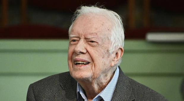 Jimmy Carter has been taken to hospital for surgery (John Amis/AP)