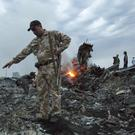 The crash site of the passenger plane in Ukraine (Dmitry Lovetsky/AP)