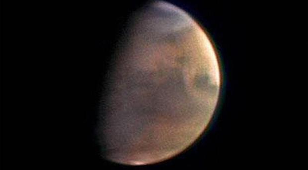 Mars seen from the mothership carrying Beagle 2 (Esa/PA)