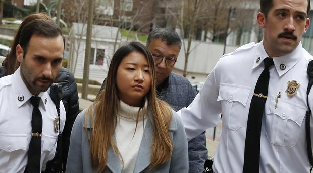 Inyoung You arrives at Suffolk Superior Court in Boston on Friday (Michael Dwyer/AP)