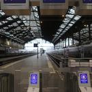 Empty platforms at the Gare de Lyon train station (Rafael Yaghobzadeh/AP)